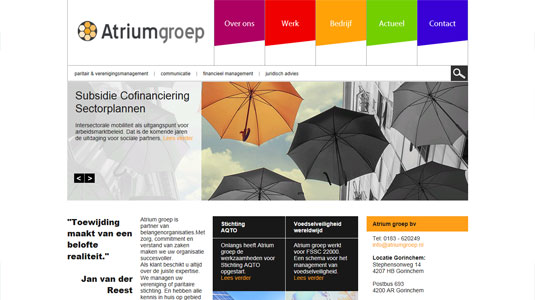 Website Atriumgroep